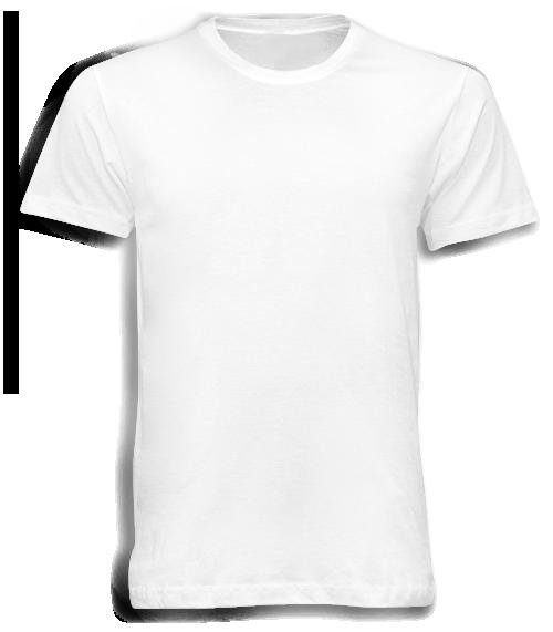 เสื้อยืดสีขาวคอกลม