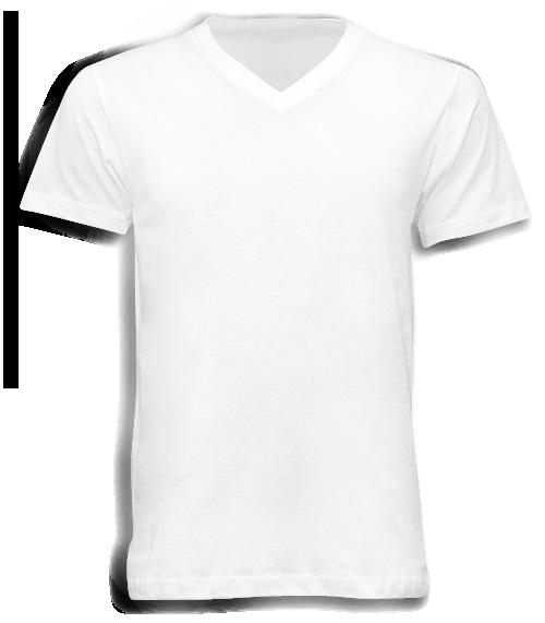เสื้อยืดสีขาวคอวี